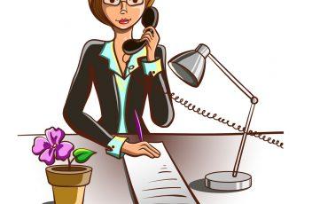 isolated-cartoon-secretary-vector-12572761